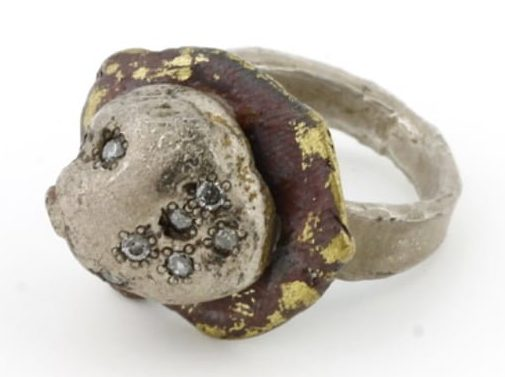 Karl Fritsch, Ring #328, ring, 2013, zilver, messing, diamant