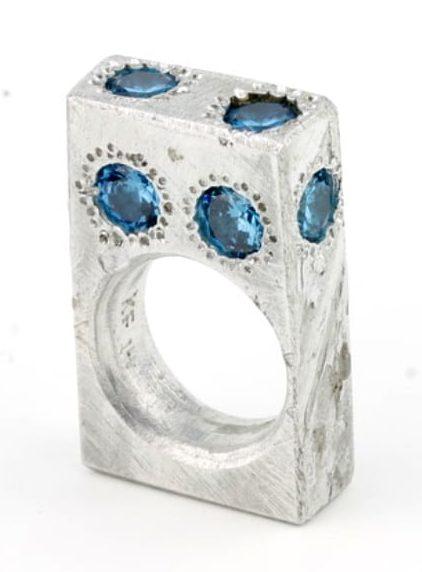 Karl Fritsch, Ring #338, ring, 2014, aluminium, cubic zirconia