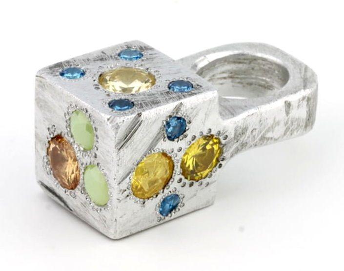 Karl Fritsch, Ring #346, ring, 2014, aluminium, cubic zirconia