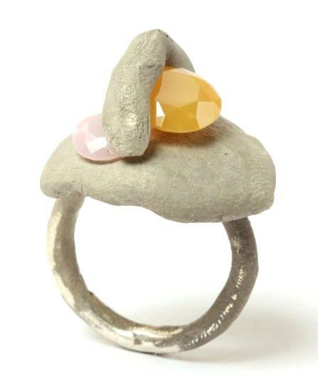 Karl Fritsch, Ring #451, ring, 2019, palladium, wit goud, cubic zirconia
