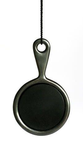 Warwick Freeman, Pocket Mirror, halssieraad, 1999, zilver, obsidiaan