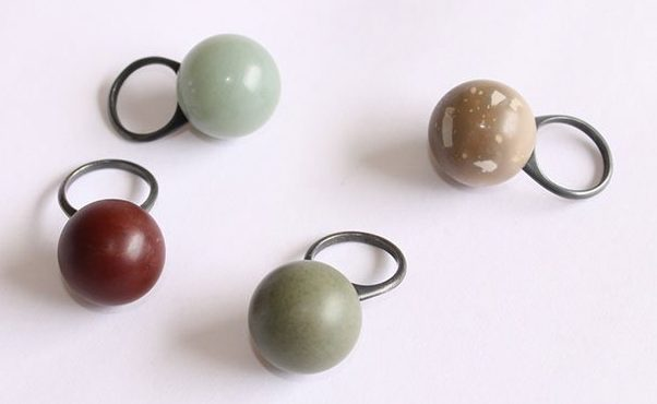 Warwick Freeman, Ball Ring, ringen, steen, gezwart zilver