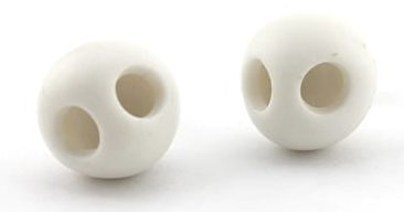 Kiko Gianocca. Skull Earrings, oorsieraden, 2007, porselein