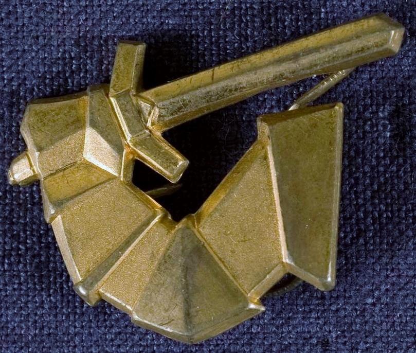 Sigurd Persson, Zweeds militair insigne, 1963, goud