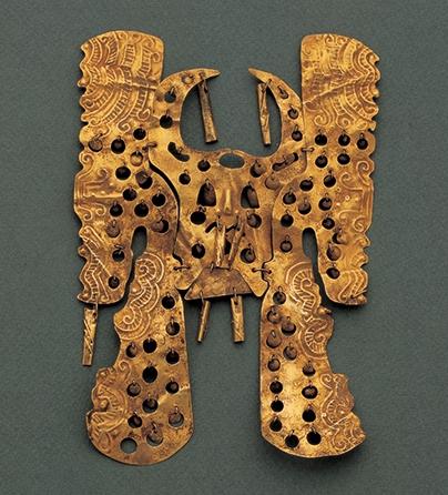 Sieraad, Colombia, 1200-1299. Collectie World Jewellery Museum, goud