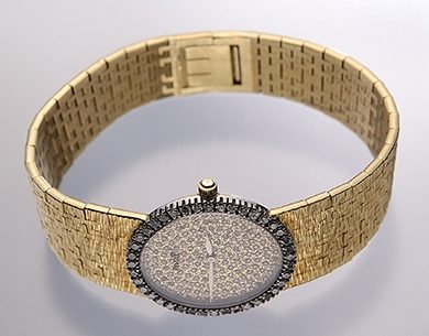 Piaget, horloge, 1970. Collectie World Jewellery Museum, goud, diamant
