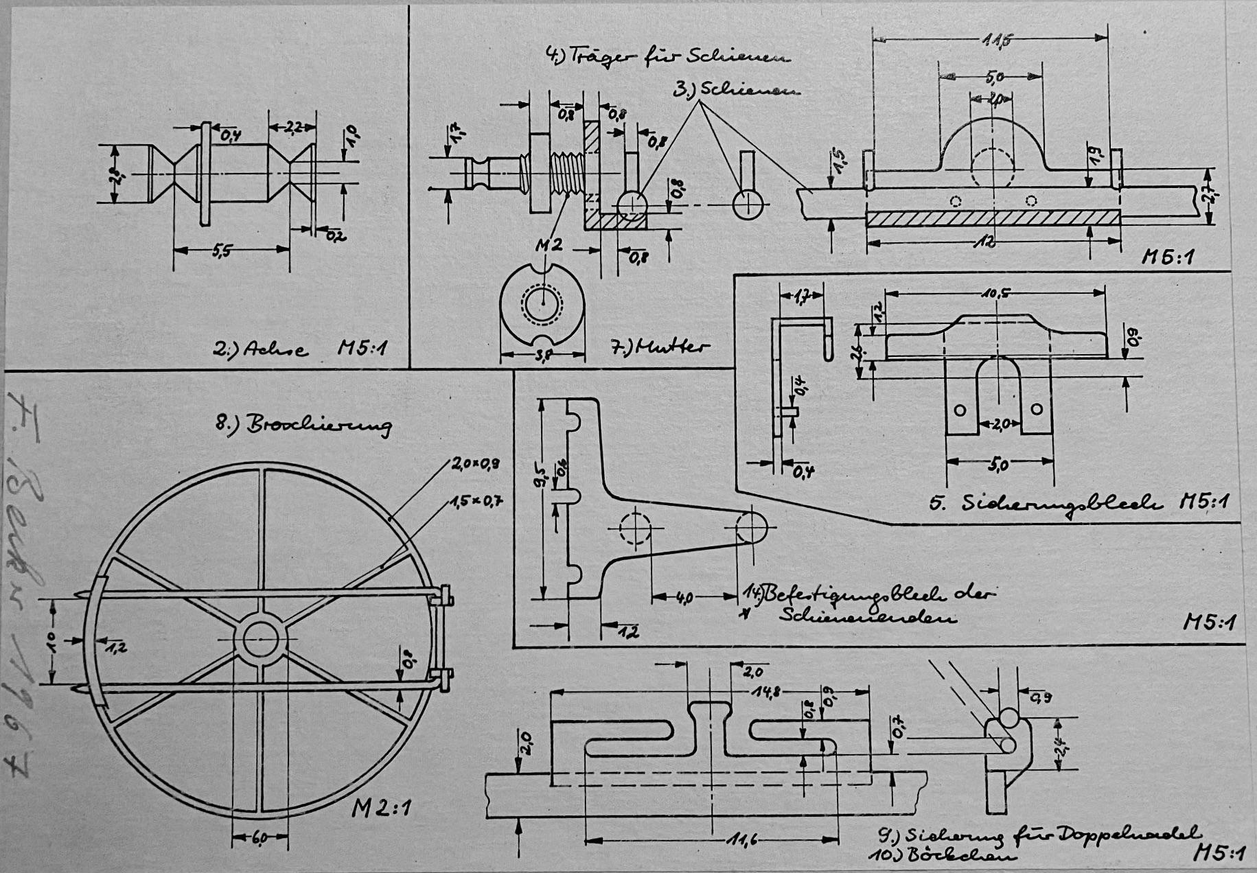 Friedrich Becker, tekening broche, 1967. Collectie Boelen