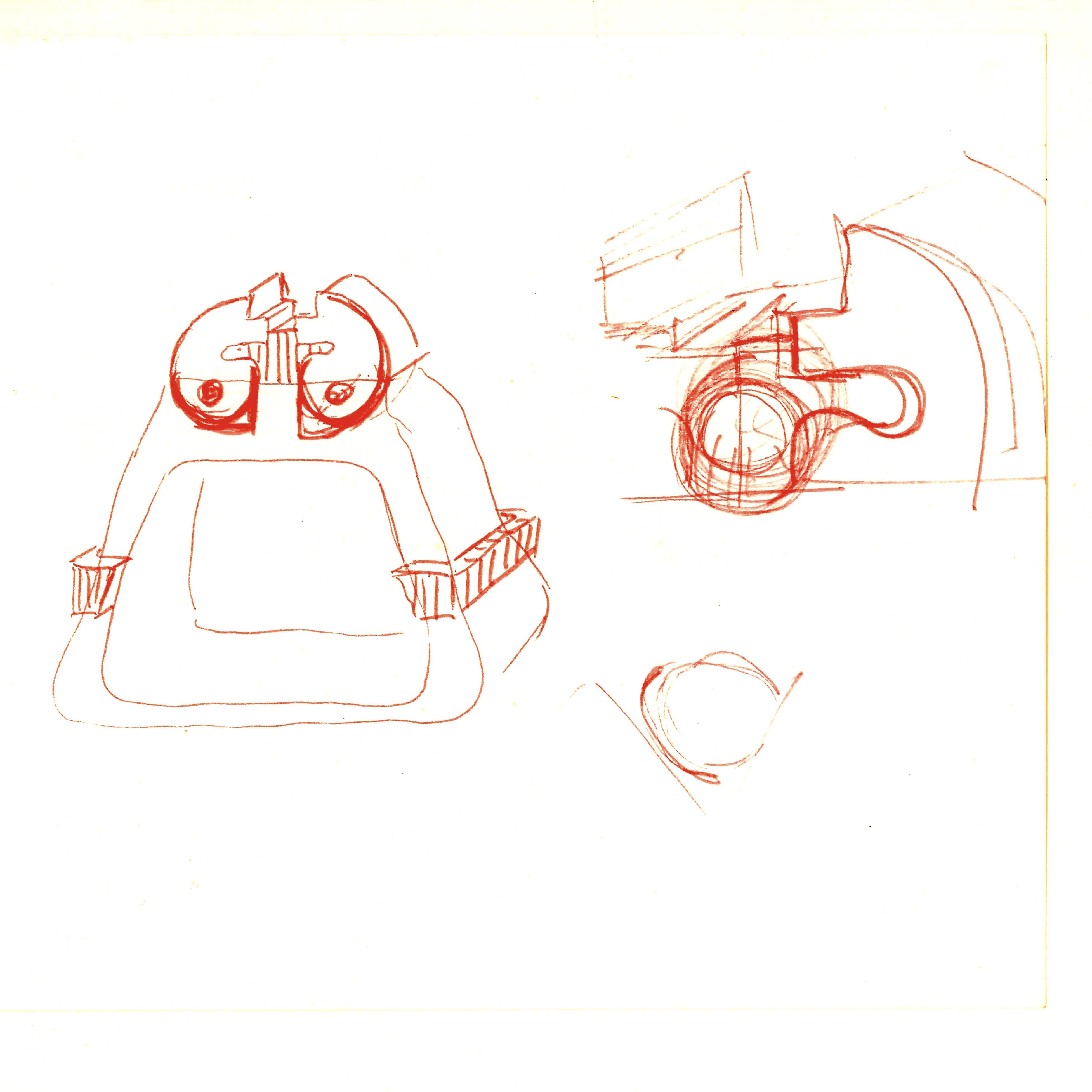 Fritz Maierhofer, tekening ring, 1970. Collectie Boelen