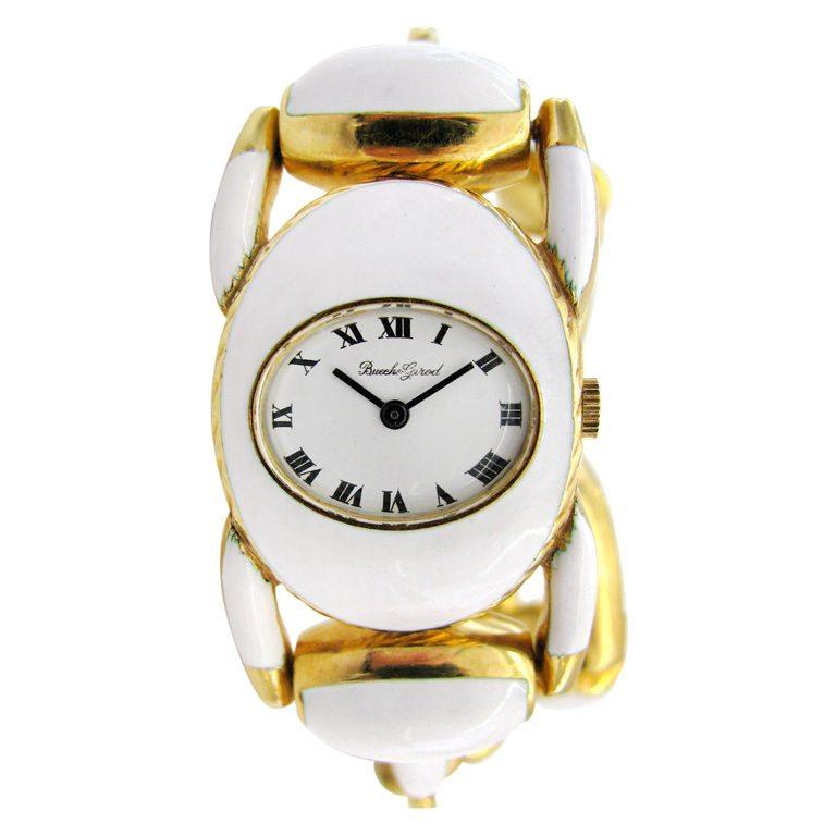 Bueche-Girod, horloge, circa 1970. Foto Kimberly Klosterman, goud, email