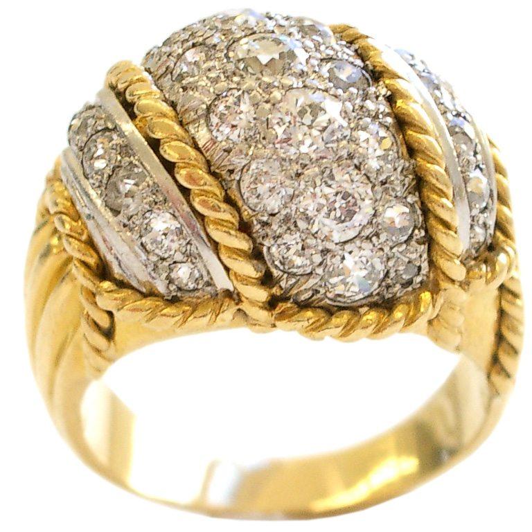 Ring, circa 1955. Foto Kimberly Klosterman, goud, diamant