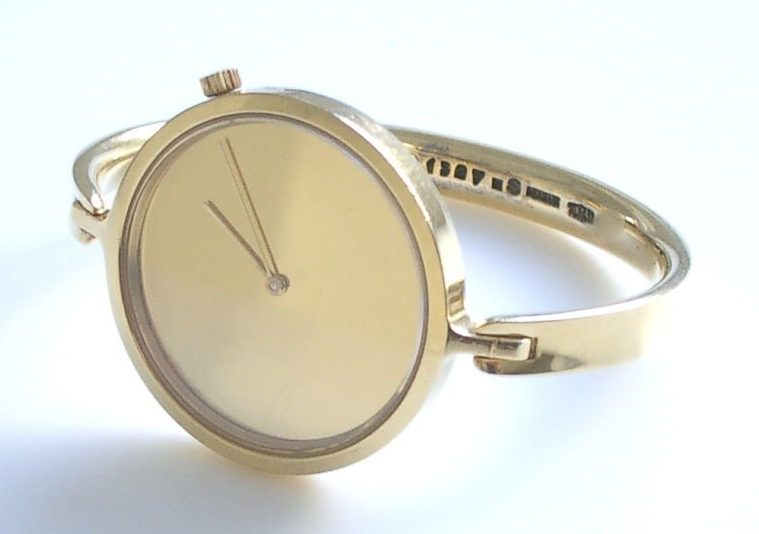 Torun Bülow-Hübe voor Georg Jensen, horloge, circa 1960, goud