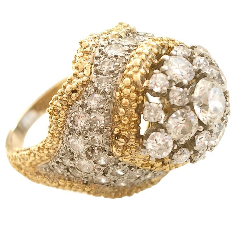Ring, circa 1960. Foto Kimberly Klosterman, platina, goud, diamant