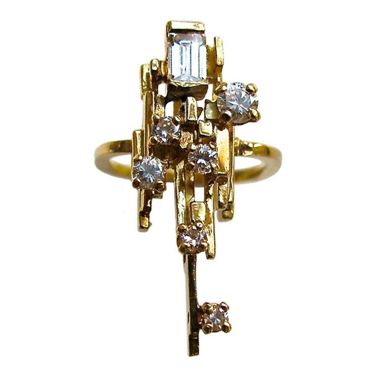 Jean Vendôme, ring, circa 1970. Foto Kimberly Klosterman, goud, diamant