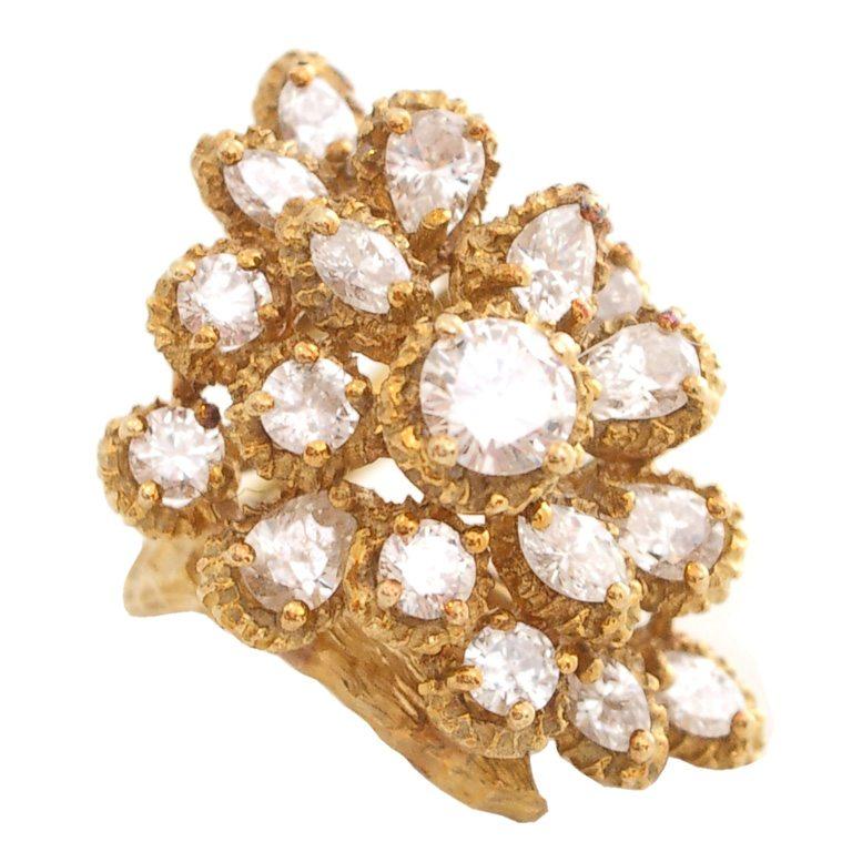 Ring, circa 1960. Foto Kimberly Klosterman, goud, diamant