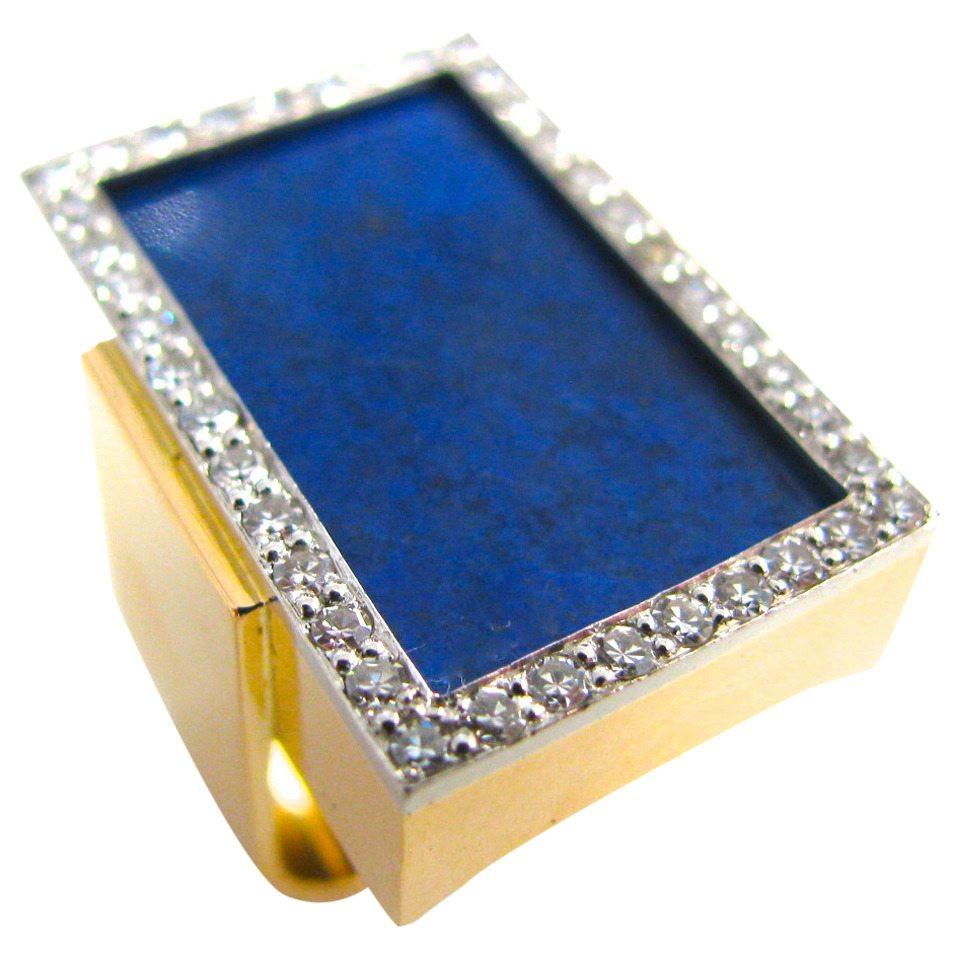 Toni Cavelti, ring, circa 1970. Foto Kimberly Klosterman, goud, lapis lazuli, diamant