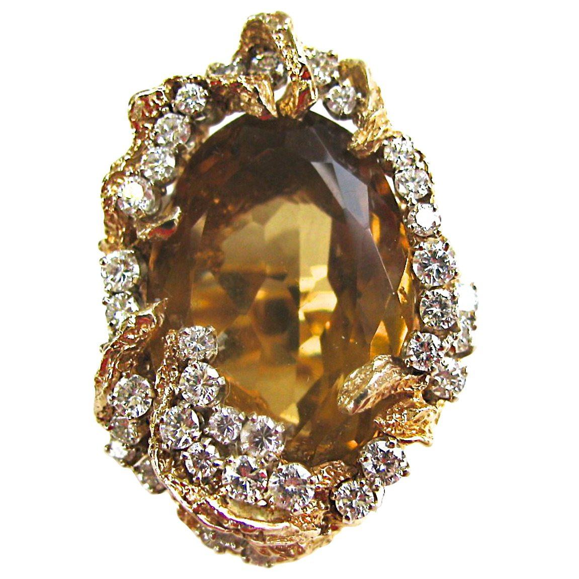 Ring, Verenigde Staten, circa 1960. Foto Kimberly Klosterman, beryl, goud, diamant