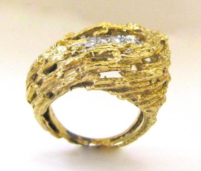 Andrew Grima, ring, circa 1976. Foto Kimberly Klosterman, goud, diamant