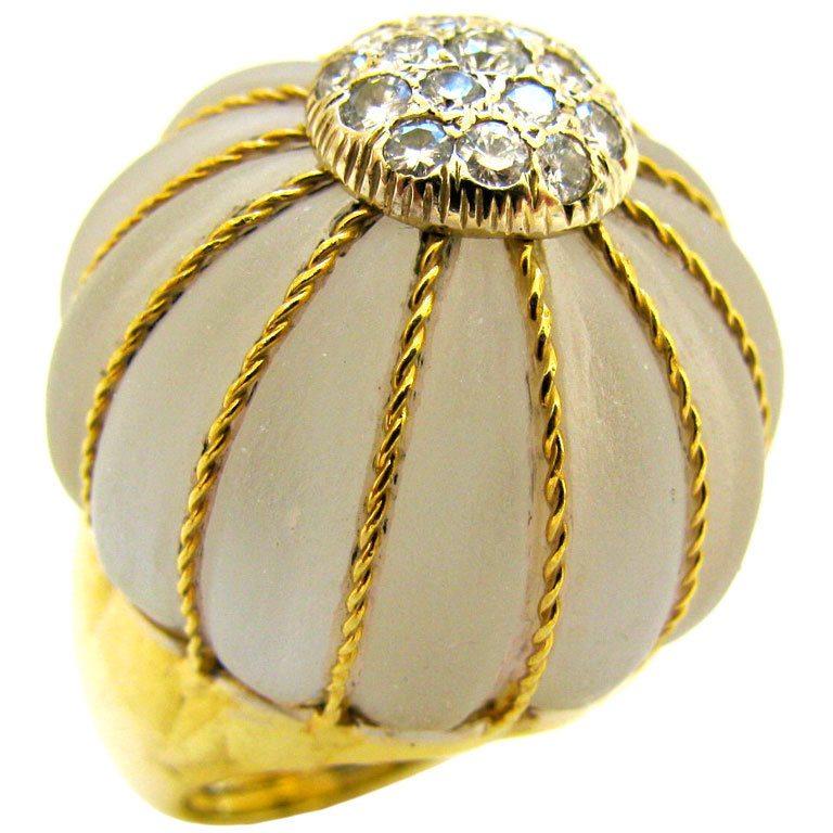 Ring, Italië, circa 1960. Foto Kimberly Klosterman, goud, bergkristal
