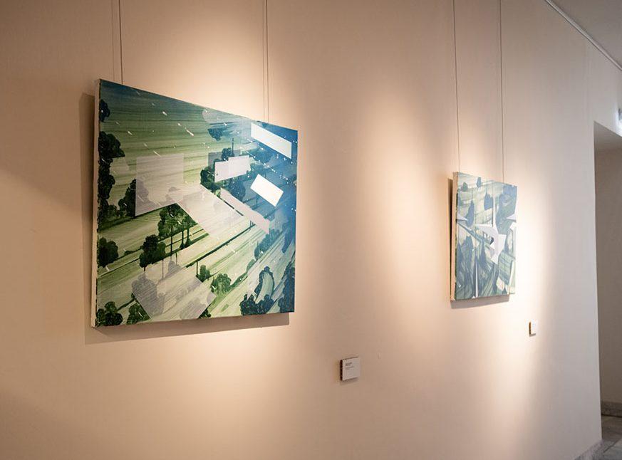 Kris van Dessel, schilderijen. Buiten, Paviljoen Welgelegen, Haarlem, 2021. Foto Aldo Smit