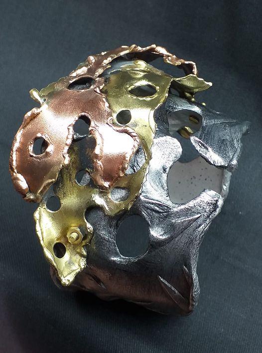 Alberto Gordillo, armband. 1960-1969, koper, messing, aluminium, schroeven