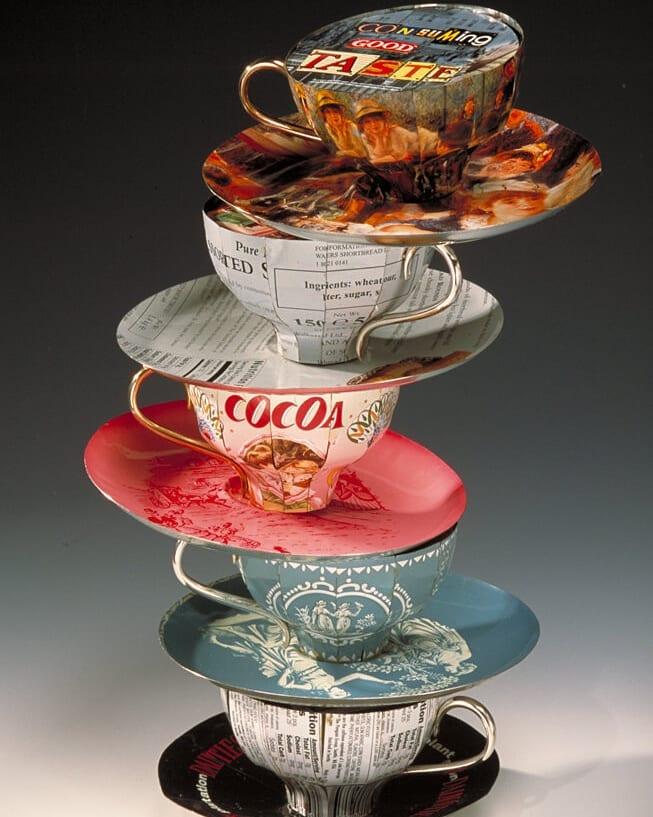 Harriete Estel Berman, Consuming Conversation, objecten, 2001, blik