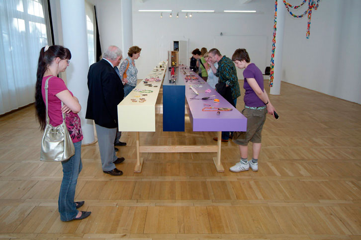 Halle - Tokio, Galerie im Volkspark, 2008. Foto Daniel Kruger, tentoonstelling