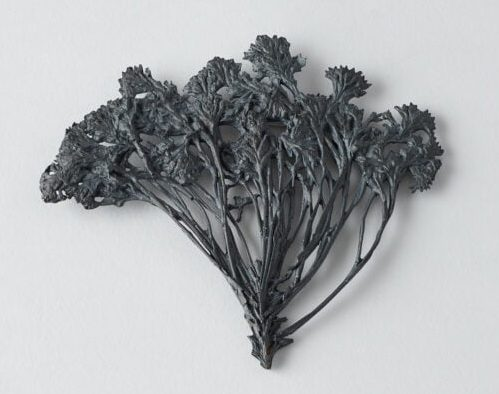 Marian Hosking, Smoke Bush, broche, 2015, gezwart zilver