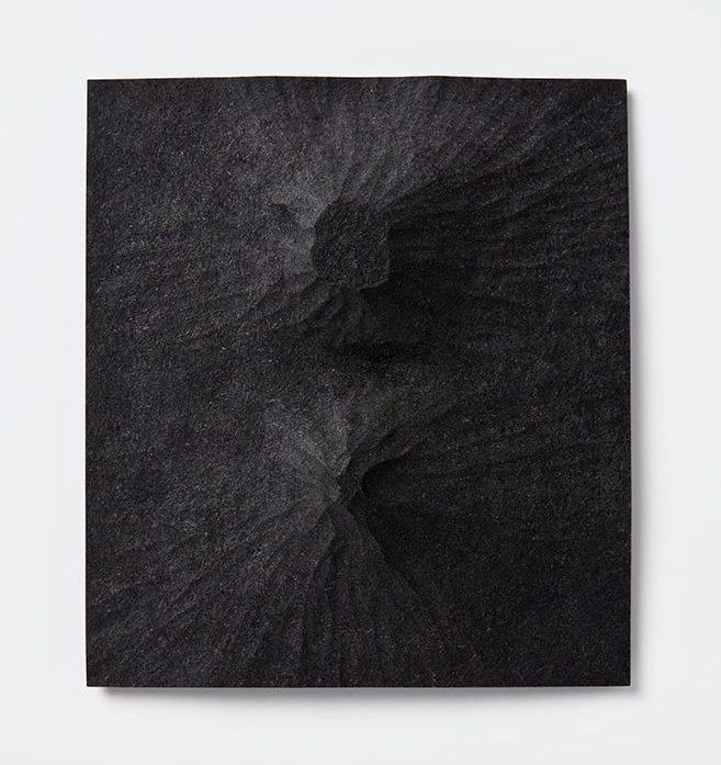 Thérèse Hilbert, Landscape I, broche, 2016, mdf, staal
