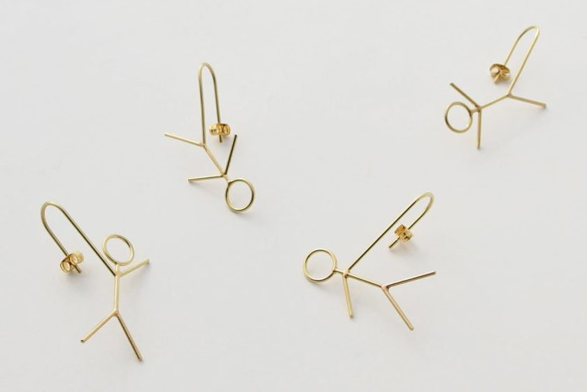 Akiko Kurihara, Long Arm, Long Leg Earrings, oorsieraden, goud