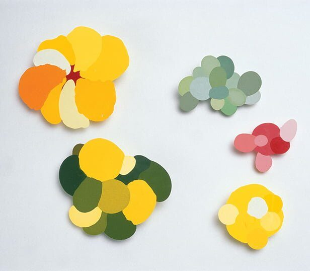 Sally Marsland, Flat Colour, 2002, kunsthars, pigment, zilver