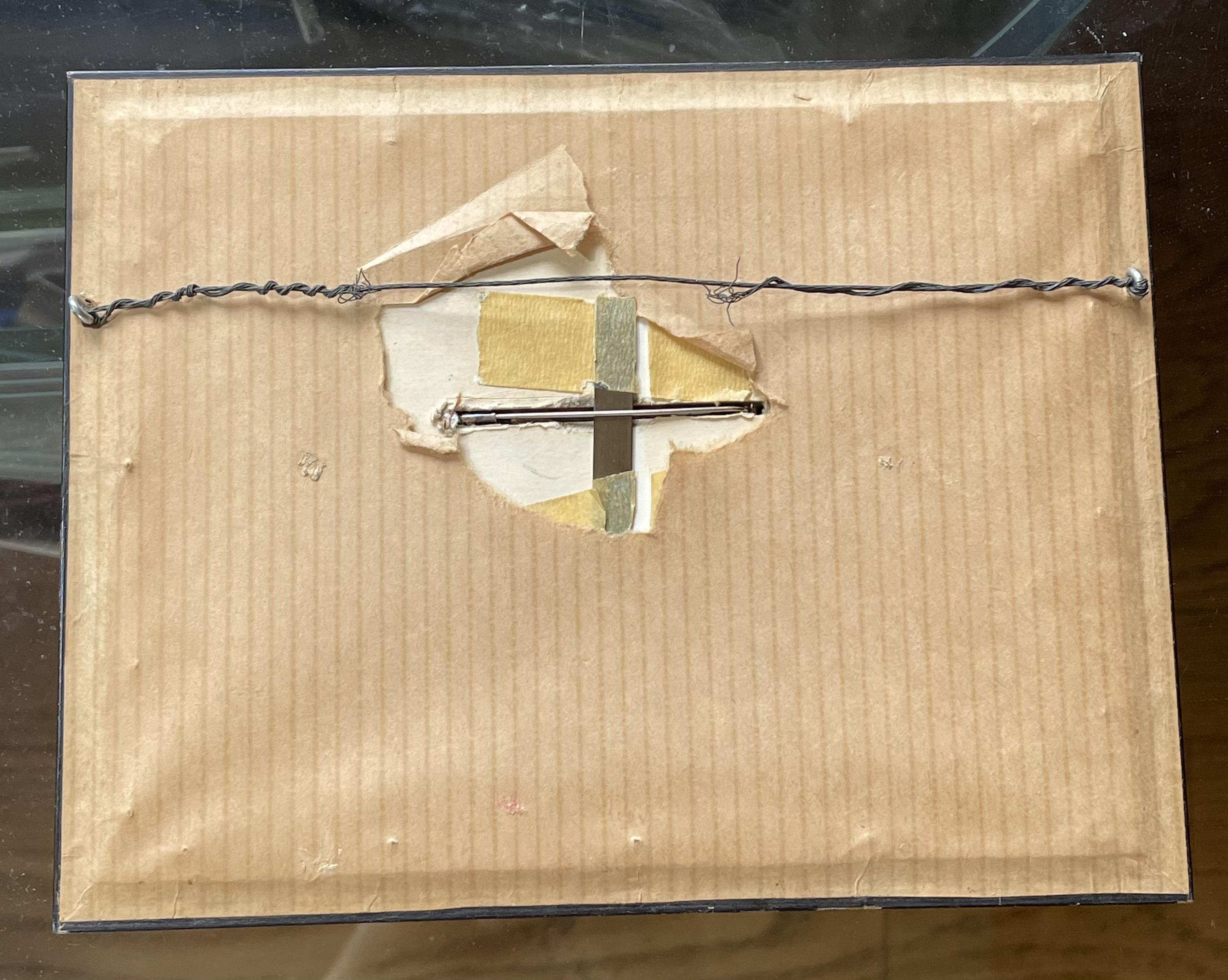 Karel Niehorster, lijst voor broche, 1970, achterzijde. Collectie World Jewellery Museum. Foto World Jewellery Museum