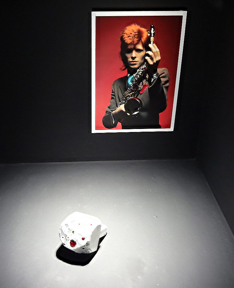 Karl Fritsch, ring, GlAmour, Espace Solidor, 2015, Foto Daniel Kruger, David Bowie, saxofoon, portret
