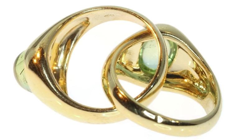 Pomellato, ring, circa 1980. Foto Adin, goud, demantoid