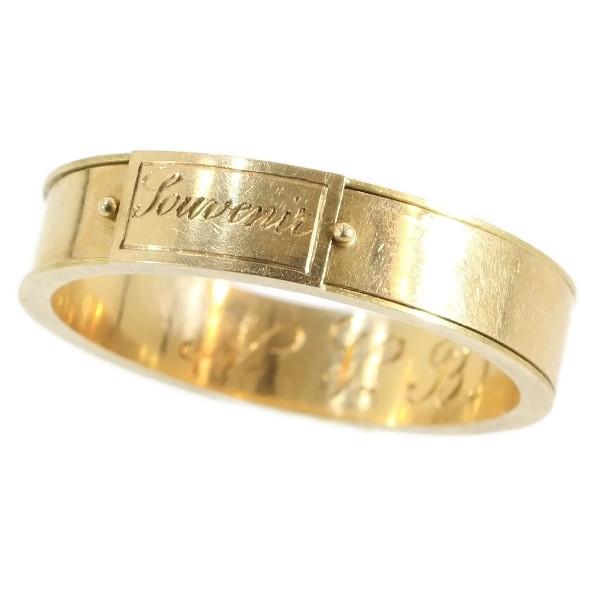 Souvenir, ring met haar, circa 1850. Foto Adin, menselijk haar, goud