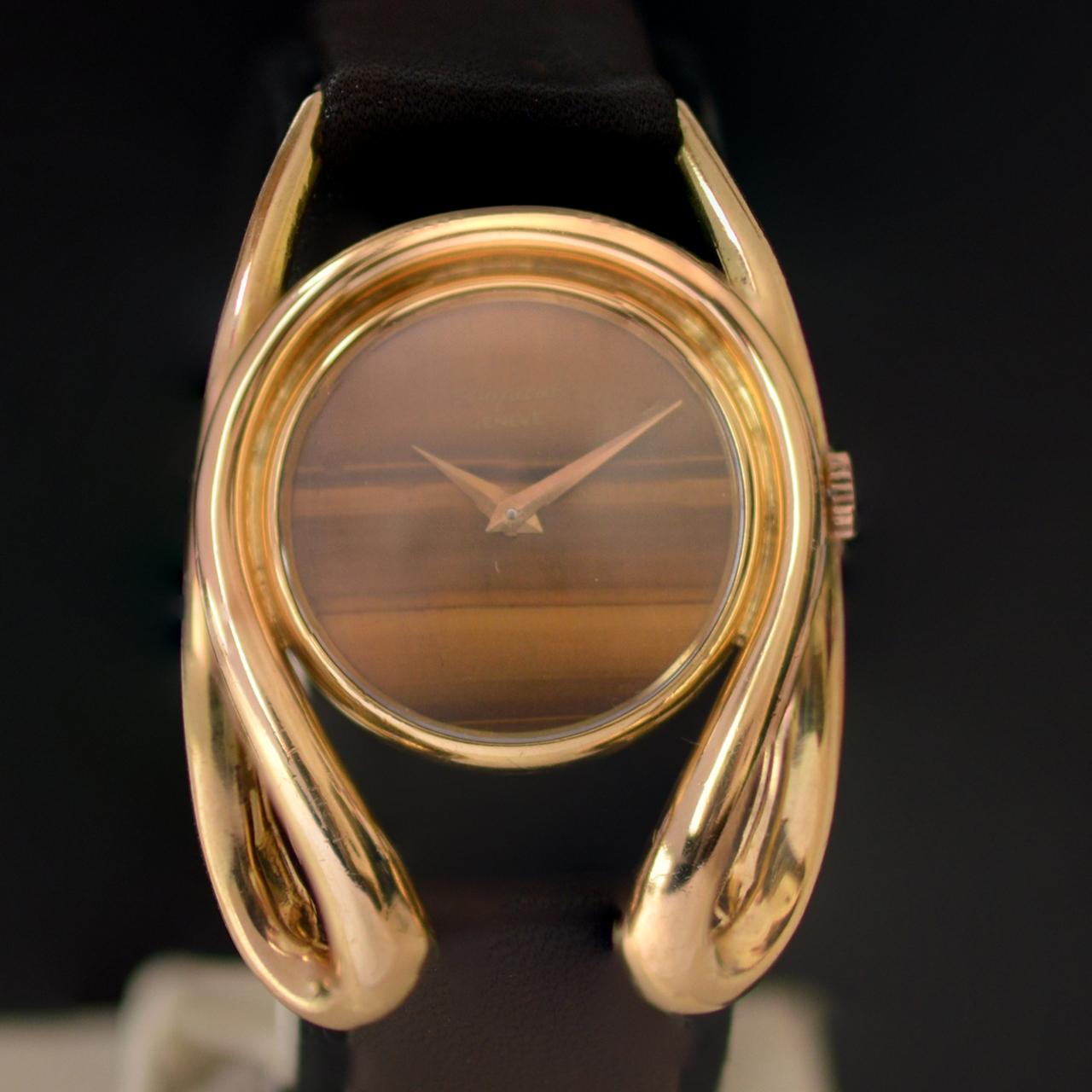 Chopard, horloge, circa 1972. Foto David Aardewerk, goud, tijgeroog