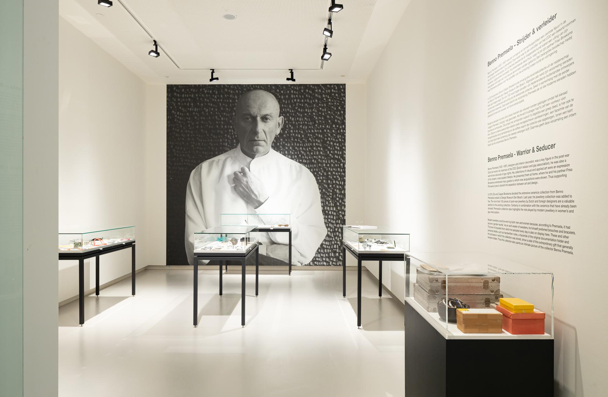 Benno Premsela - Strijder en verleider, Design Museum Den Bosch, 2021, tentoonstelling, portret, verpakking