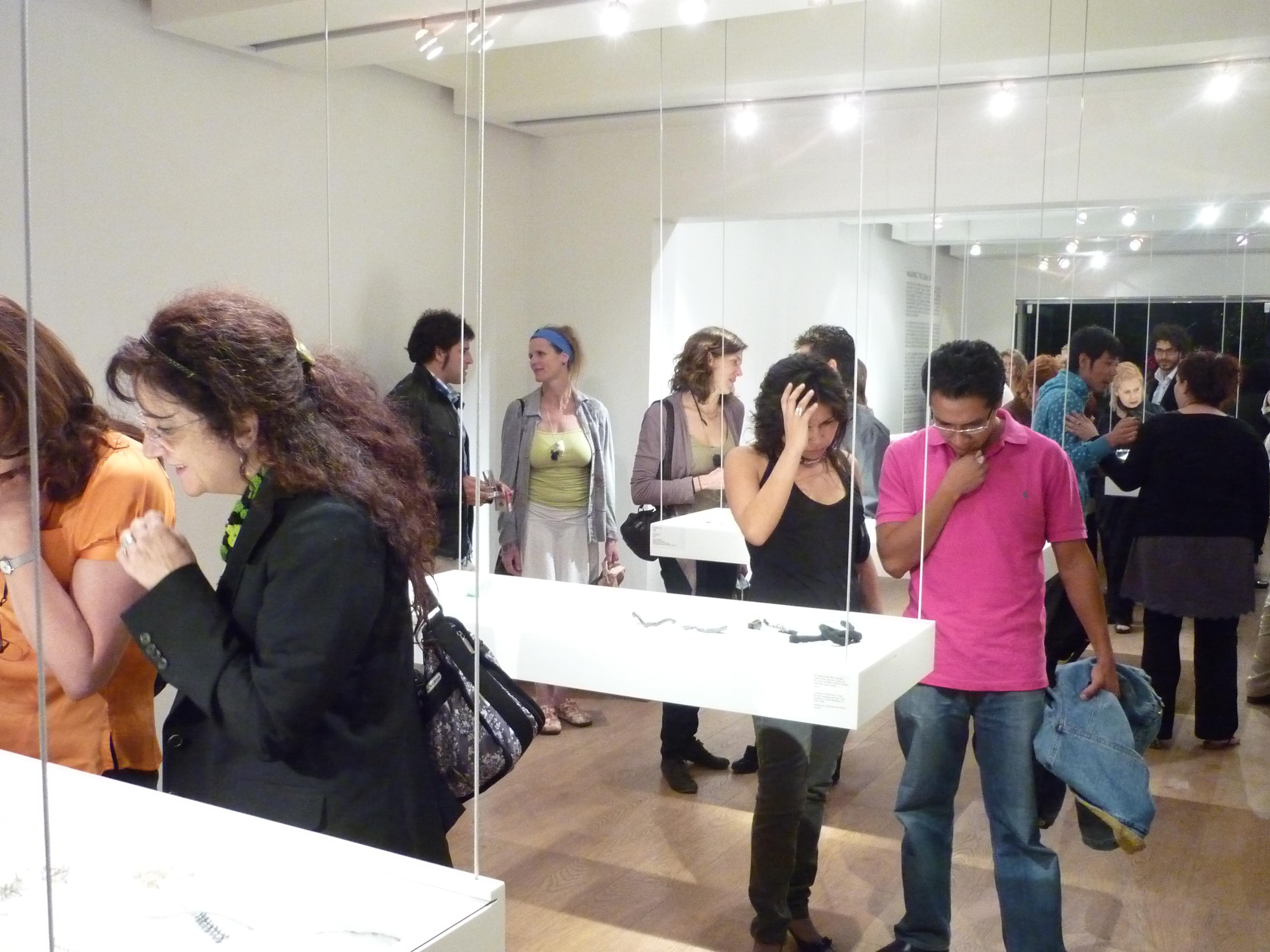 Walking the Gray Area, opening, Galeria Emilia Cohen, Mexico City, 2010, tentoonstelling, Foto Liesbeth den Besten