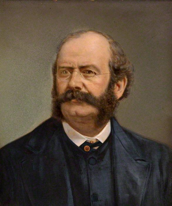 Henry Van der Weyde, portret van William Burges, 1881. Collectie National Portrait Gallery
