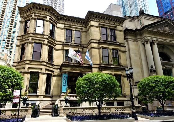 Richard H. Driehaus Museum, Chicago, 2018. Foto met dank aan Wikimedia Commons, Joyofmuseums, exterieur, gevel