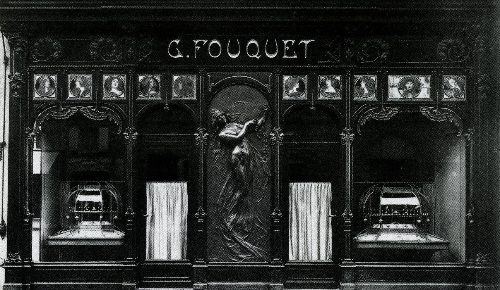 Alphonse Mucha voor Georges Fouquet, winkelpui. Collectie Musée Carnavalet