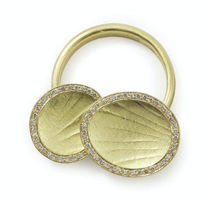 Jacqueline Mina, Wobbly Ring, ring, 2011, goud, diamanten