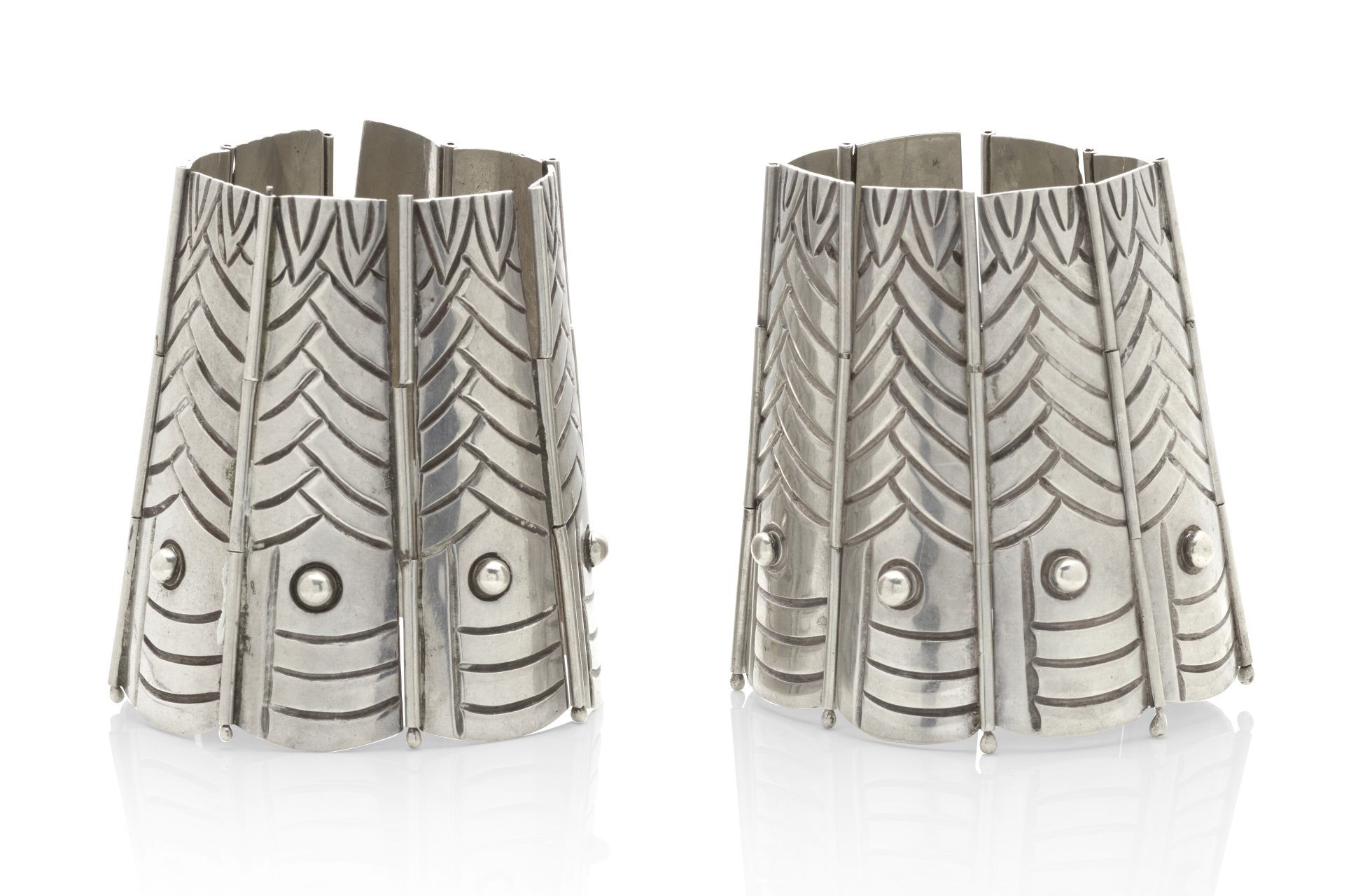 Armbanden, Taxco. Collectie Jill & Byron Crawford. Foto Bonhams, zilver