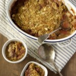 Rhubarb, Strawberry & Almond Crumble