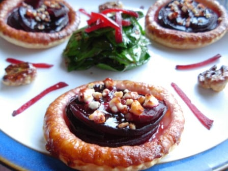Beetroot Goats Cheese Tartlet