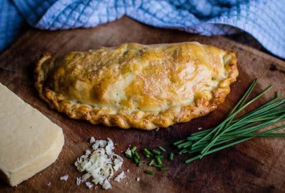 Cheese and Chive Cornish Pasty