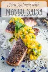 Jerk Salmon with Mango Salsa