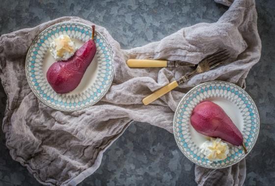 Poached Pears (Naturally Sugar Free)