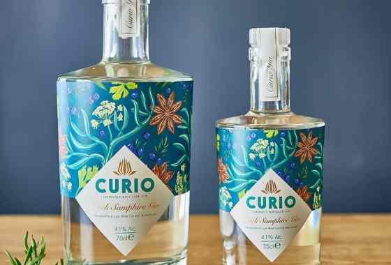 WIN Curio Spirits Rock Samphire Gin and Cornish Cup