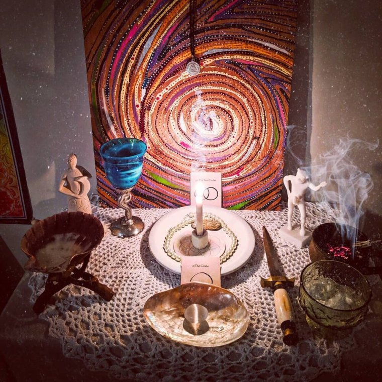 """But maybe you already have a main, permanent altar that you have and this is old news to you? Here are some other ideas:Seasonal Altar - This is similar to your main altar, but it focuses more on the Wheel of the Year and decorating it by the season. This is a great altar to keep in the main living space of your house because it's always festive!""""Family"""" Altar - Perfect if you have kids that you're trying to steer away from your main altar. The ideal landing space for the rocks, sticks, pinecones, acorns, etc. that they inevitably insist on saving but you're never sure where to keep!  -"""