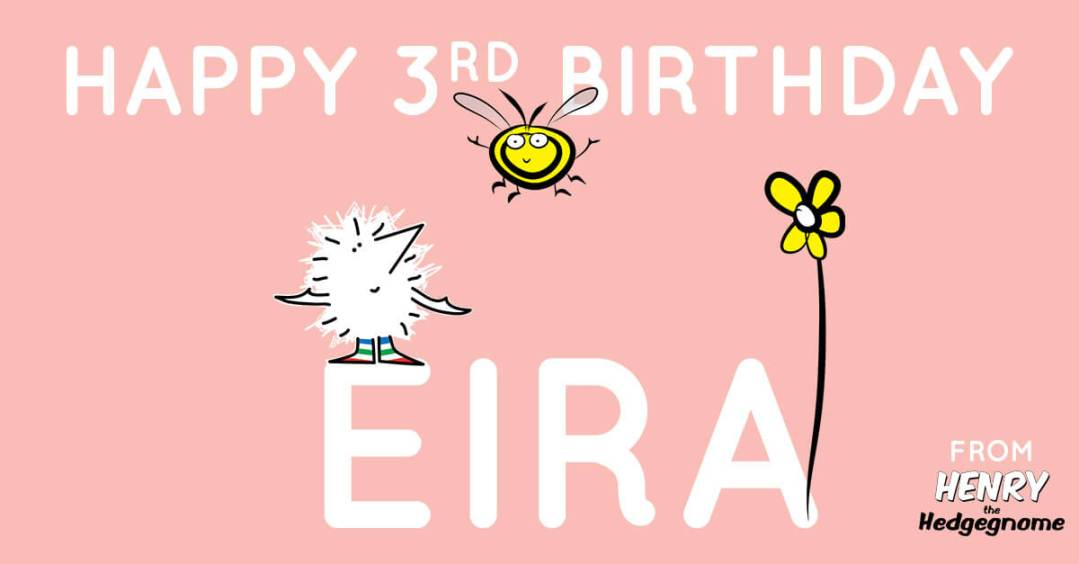 Children's books | Henry the Hedgegnome | Happy birthday Eira